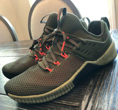 Nike Free Metcon Training Shoes Olive Canvas Black Total Crimson AH8141 342 - $103.95