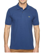 NEW MENS LACOSTE BLUE CLASSIC PIQUE CROC LOGO POLO SHIRT S (3) - $49.99