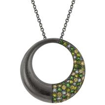 Black Rhodium Hooplet Pendant - $39.00