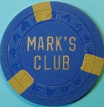 Casino Chip. Marks Club, Marysville, CA. 1952. O96. - $7.50