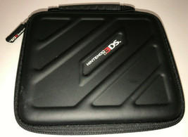 Nintendo 3ds Black Hard Console Case Zipper Closure - $8.32