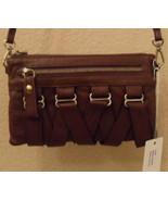 NWT FOLLIS Lola Brown Leather Crossbody Bag NEW (MAKE AN OFFER) - $98.01