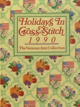 """Hard Covered Book - """"Holidays in Cross-Stitch 1990"""" - Vanessa-Ann - Gent... - $18.00"""