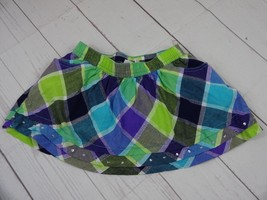 Sonoma Girls Blue and Green Plaid Skort with pockets Size 6 - A1749 - $6.53