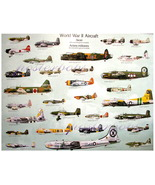 World War II Aircraft Chart  by Eurographics - $29.00
