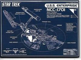 Star Trek: The Original Series Enterprise NCC-1701 Blueprint Magnet NEW UNUSED - $3.99