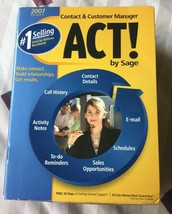 ACT! by Sage 2007 version 9 Windows Microsoft 2000 Xp Vista PLUS VERSION 2 - $28.49