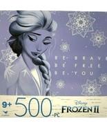 "Cardinal Disney Frozen 2 Jigsaw Puzzle Elsa 500 Piece Spinmaster  11"" x ... - $7.61"