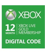 12-Month{1 year} Xbox 360/ONE Live Gold Members... - $49.44