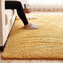 Super Soft Khaki Area Rug Kids Rugs Artic Velvet Mat with Plush and Fluf... - $85.99