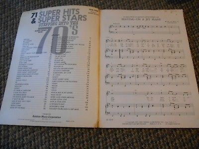 Old Vintage Song Book 71 Super HIts & Super Stars Stepping into the 70's 1970