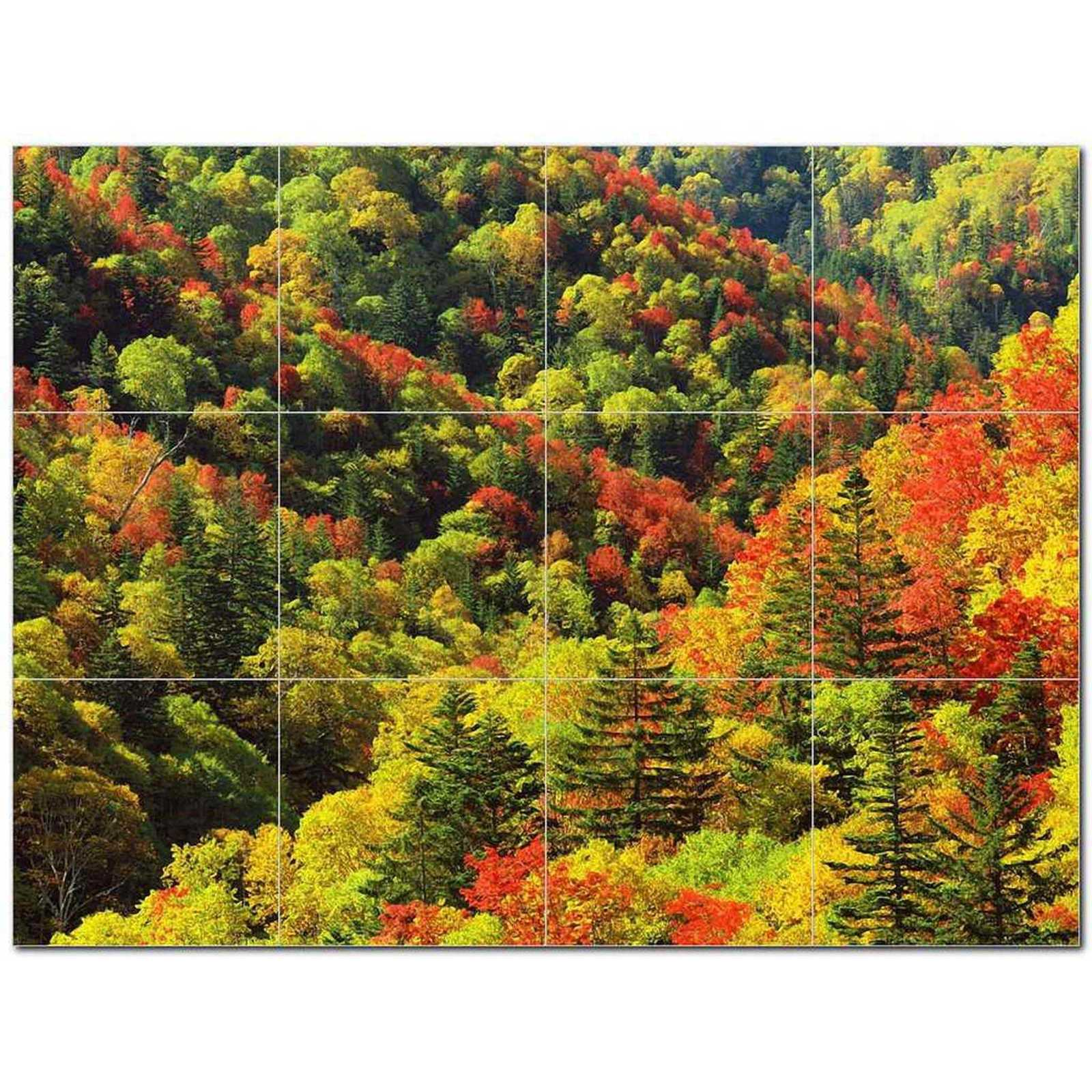 Primary image for Trees Leaves Ceramic Tile Mural Kitchen Backsplash Bathroom Shower BAZ406005