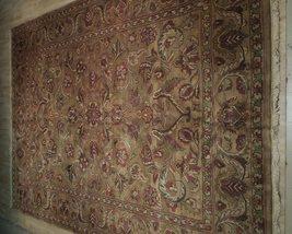 Densely Knotted Genuine Handmade 9 x 13 Brown Jaipur Wool Rug image 3