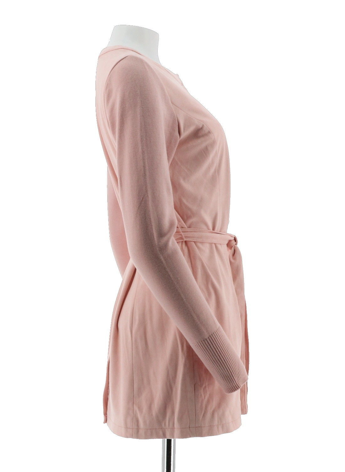 H Halston Faux Suede Jacket Sweater Knit Slvs Rose Blush 18W NEW A281814