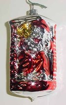 Santa Down Chimney Vintage Glass Christmas Ornament - $10.00