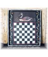 PRiMiTiVe FOLK ART GOOSE CHECKERBOARD GAMEBOARD PLAQUE - $21.95
