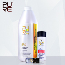 Keratin Treatment 5% Formaldehyde Straightening Hair + Shampoo & Gift Ar... - $61.33