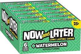 Now & Later Original Taffy Chews Candy, Watermelon, 0.93 Ounce Bar, Pack... - $13.65