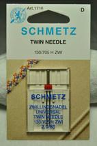 Schmetz Sewing Machine Twin Needle 1716 - $6.60