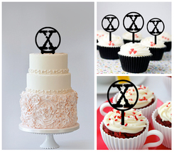 Decorations Wedding,Birthday Cake topper,Cupcake topper, The X Files  : ... - $20.00