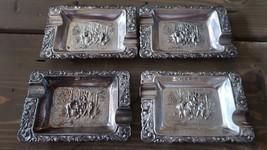 Vintage Set of 4 Hans Jensen Denmark Silverplat... - $69.29