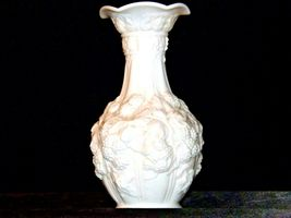 White Concorde Grape Flower Vase  AA19-1571 Vintage image 3