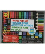 Travel Art Set - Alex - 80 Pieces - Missing Ruler & Paper Clips Otherwis... - $7.83