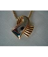 Goldtone & Silvertone Slide Pendant, Braid Chain - $6.99