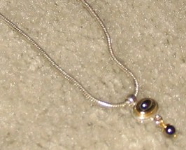 Vintage '80's Costume Jewelry Silvertone Necklace - $7.50