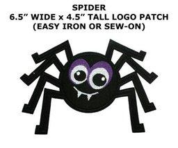 Black Spider Tattoo Biker Cartoon Halloween Logo Applique Iron on Patch ... - $7.89