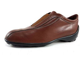 TOD'S Moccasins in Brown Leather, Women's Shoe Size US 8 / EU 38 - $133.20