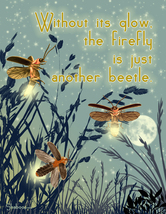 Firefly Inspirational Thinking Of You Insect Philosophy Greeting Card - $5.00