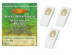 Hoover Type Q Upright Platinum Allergen Paper Bag 3 PK Generic # A890 - $10.94