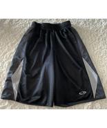 Champion Boys Black Gray Mesh Reversible Basketball Atheltic Shorts 8-10 - $8.33
