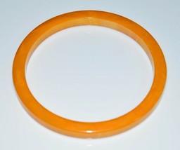 VTG Butterscotch Yellow Orange Marbled End of Days BAKELITE Bangle Bracelet - $123.75