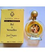 Jean Desprez  Eau de Toilette Bal a Versailles 1.7oz 50ml  Box Half Full - $24.74