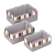 Baskets For Storage, Neutral Trio Bathroom Kitchen Nesting Storage Basket Set - $37.49