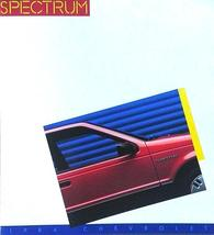 1986 Chevrolet SPECTRUM brochure catalog US 86 Chevy Isuzu - $6.00