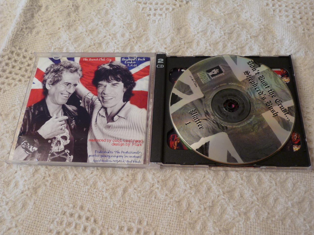 The Rolling Stones DON'T Bite The Crust Shepards Bush 1999 Original Vintage 2 cd