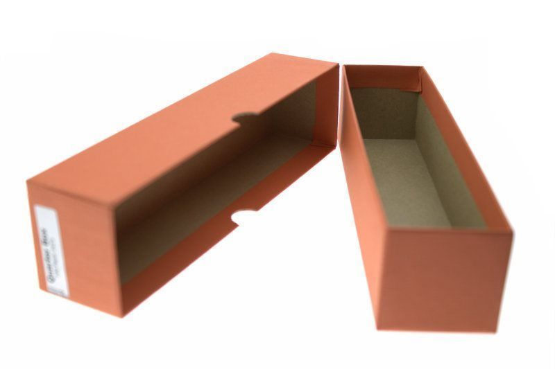 """Guardhouse Orange Quarter Coin Storage Box with 100 Coin Flips, 2"""" x 2"""" x 8.5"""" image 5"""