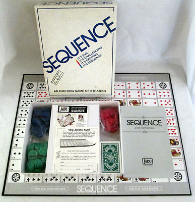 Sequence Board Game 1995 JAX 8002