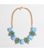 J.Crew STONE AND DOTTED FLOWER NECKLACE*~*Bright Sea*~*NWT - $32.00