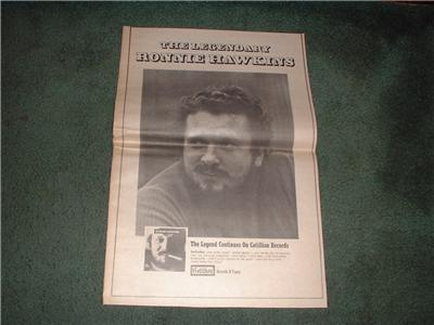 1970 RONNIE HAWKINS POSTER TYPE AD