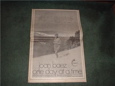 1970 JOAN BAEZ ONE DAY AT A TIME POSTER TYPE AD