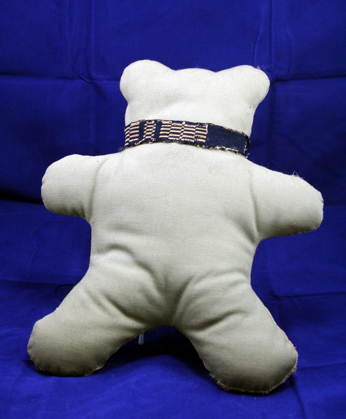 Antique Quilt Folk Art Teddy Bear Tan colors - OOAK