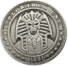 Hobo Nickel Egypt Egyptian Skull Vampire Pharaoh Morgan Dollar American ... - $9.49