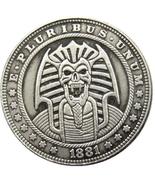 Hobo Nickel Egypt Egyptian Skull Vampire Pharaoh Morgan Dollar American ... - $9.49