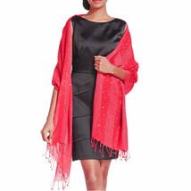 New STYLE&CO Soft Elegant Sequin Lurex Wrap Women's Scarf Shawl With Tas... - €7,16 EUR