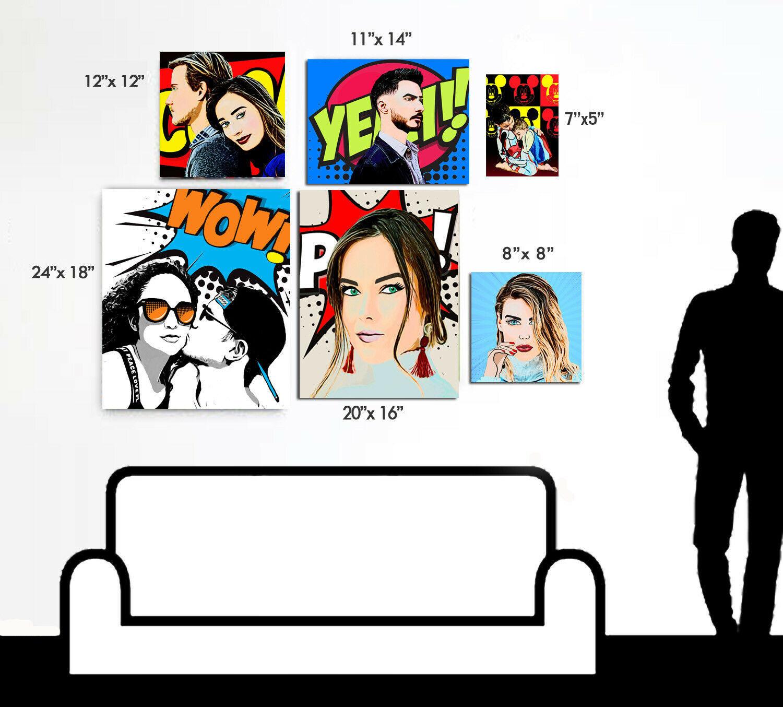 Wall Art - Custom Art from Photo - Custom Pop Art Canvas - Custom Wall Art