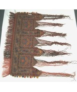 Unbranded DV146 Hand Made Nomad Rug Colors Red Orange Lavendar Brown - $596.00